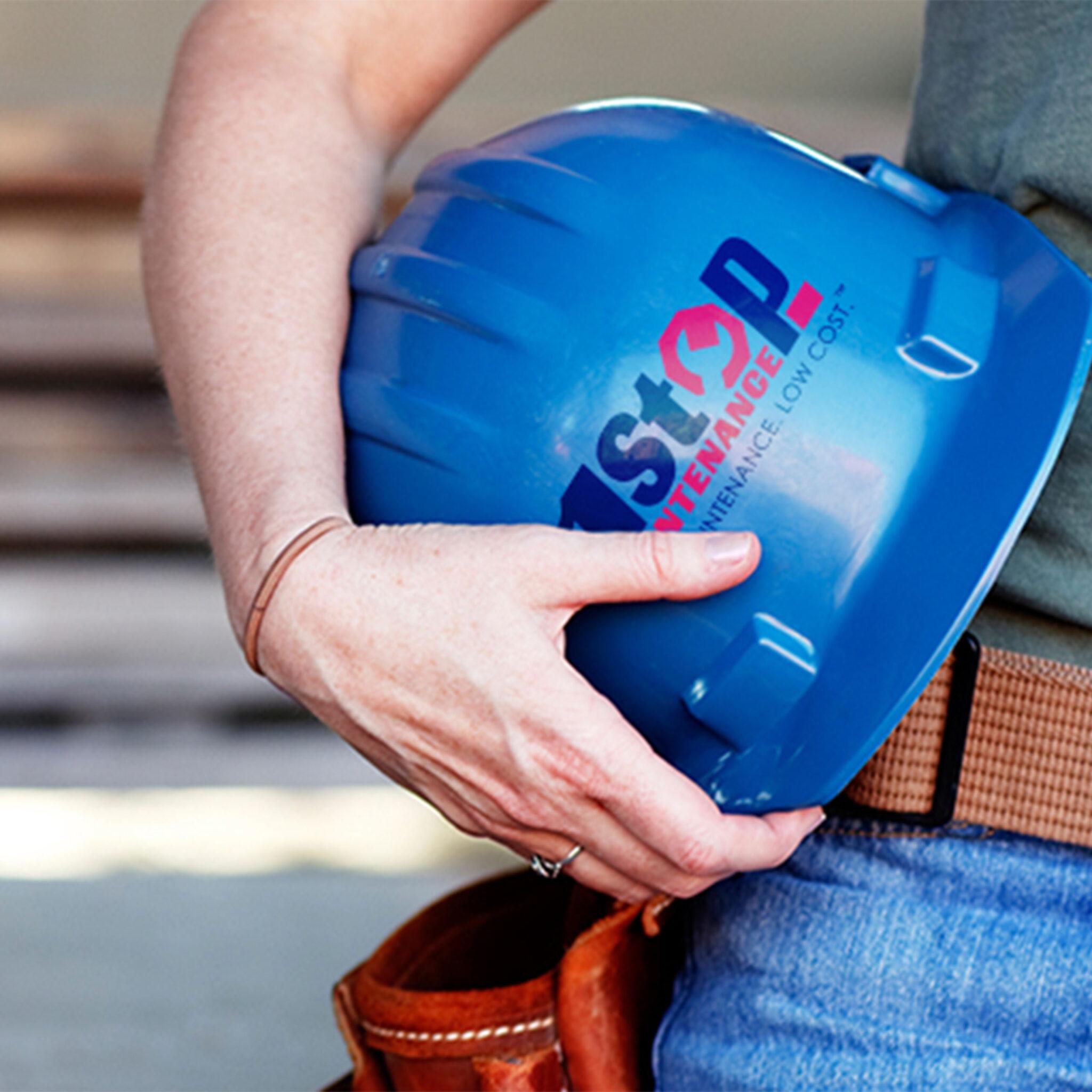 1 Stop Maintenance Hard Hat with Logo