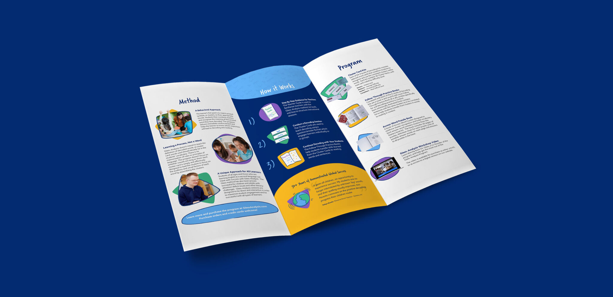 Glass-Analysis - Mock Ups - Collateral - Trifold Brochure - Inside